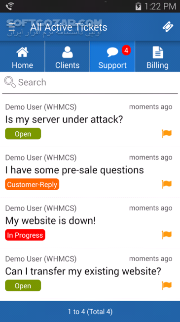 aWHMCS 2 8 2 for Android 3 2 تصاویر نرم افزار  - سافت گذر