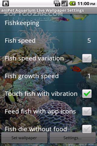 aniPet Aquarium Live Wallpaper 2 5 2 for Android 2 1 تصاویر نرم افزار  - سافت گذر