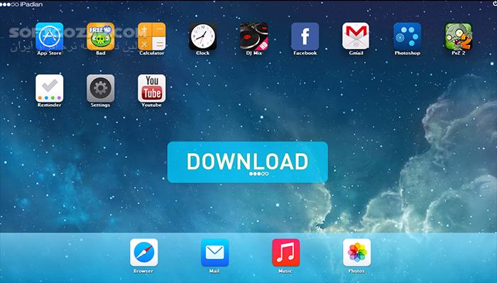 iPadian 10 1 تصاویر نرم افزار  - سافت گذر