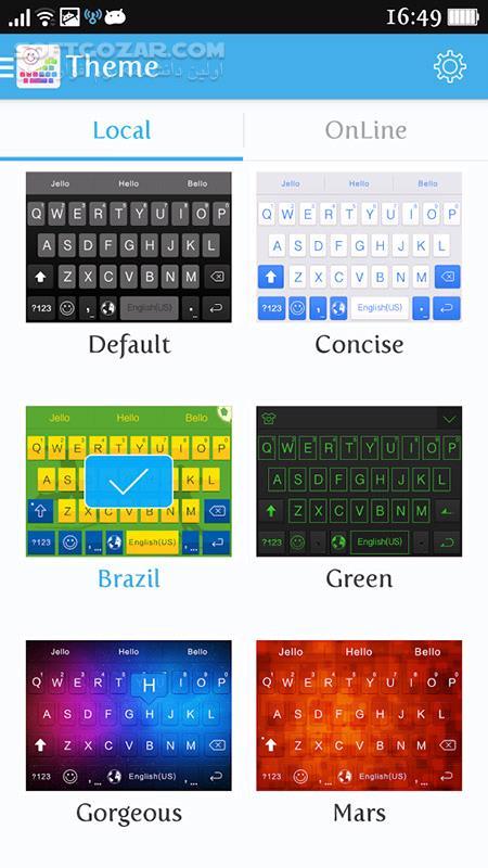 ikeyboard 4 8 2 4042 for Android 4 0 تصاویر نرم افزار  - سافت گذر