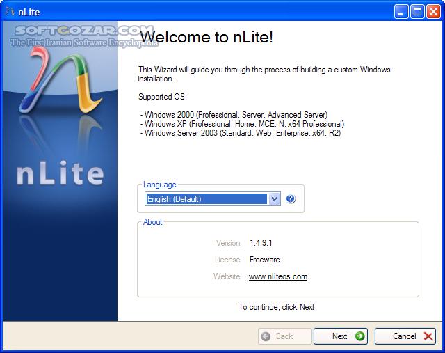 nLite 1 4 9 3 تصاویر نرم افزار  - سافت گذر