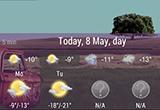 دانلود Animated Weather Widget&Clock 6.7.1.5f1 for Android +4.0
