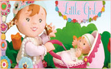 دانلود Little Girl - Molly Playing With Her Dolly