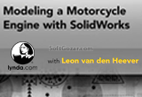 دانلود Lynda - Modeling a Motorcycle Engine with SolidWorks