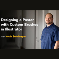 دانلود Lynda - Designing a Poster with Custom Brushes in Illustrator
