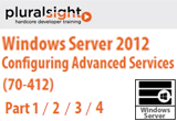 دانلود Pluralsight (TrainSignal) - Windows Server 2012 Configuring Advanced Services (70-412) Part 1 / 2 / 3 / 4