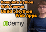 دانلود Udemy - Complete Python Web Course- Build 5 Python Web Apps