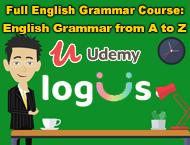 دانلود Udemy - Full English Grammar Course English Grammar from A to Z - Update 2020-10)